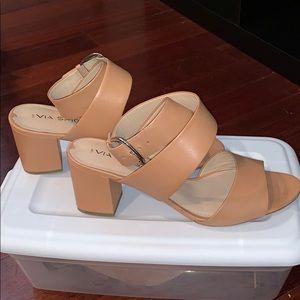 Via Spiga Leather Strappy Heel Size 8